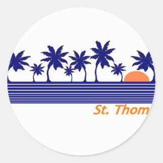 St Thomas Pegatina Redonda