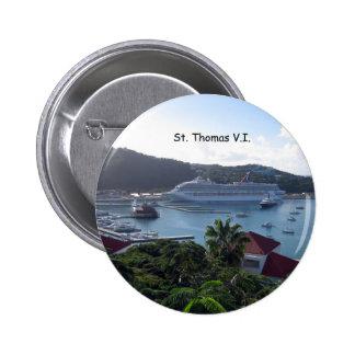 St. Thomas Pinback Button