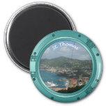 St Thomas Porthole 2 Inch Round Magnet