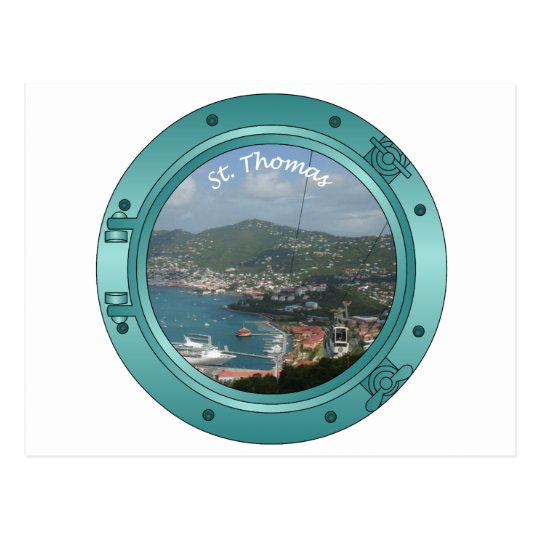 St Thomas Porthole Postcard
