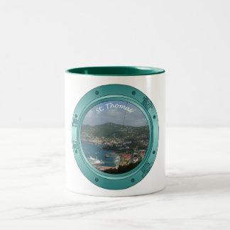 St Thomas Porthole Two-Tone Coffee Mug