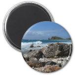 St. Thomas Rocky Beach Island Landscape 2 Inch Round Magnet
