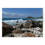 St. Thomas Rocky Beach Tropical Landscape Card