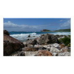 St. Thomas Rocky Beach Tropical Landscape Poster