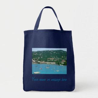 St. Thomas Sailboats Custom Tote Bag