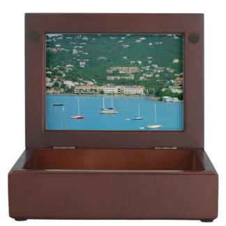 St. Thomas Sailboats Memory Box