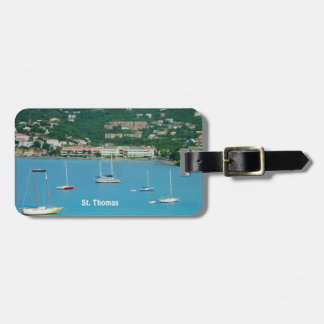 St. Thomas Sailboats Personalized Luggage Tag
