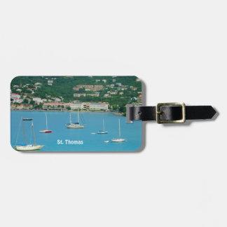 St. Thomas Sailboats Personalized Luggage Tag