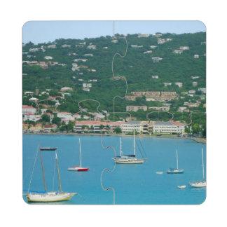 St. Thomas Sailboats Puzzle Coaster