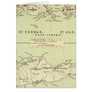 St Thomas, St enero, ladrón del St Tarjetón