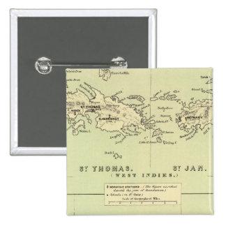 St Thomas, St Jan, St Crook Pinback Button