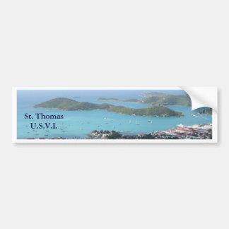 St Thomas U.S.V.I. Pegatina De Parachoque