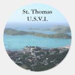 St Thomas U.S.V.I. Etiquetas Redondas