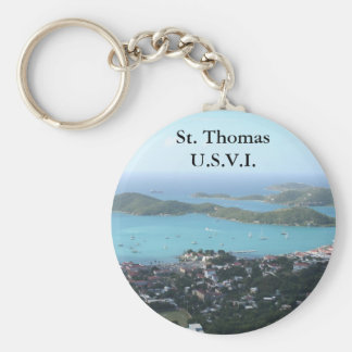 St Thomas U.S.V.I. Llavero Redondo Tipo Pin