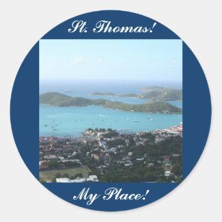 St Thomas U.S.V.I. Pegatina Redonda