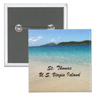 St. Thomas, U.S. Virgin Island Pinback Button