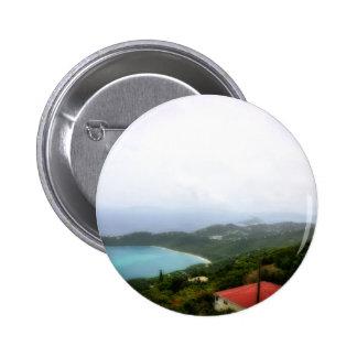 St. Thomas US Virgin Island overlook Pinback Button