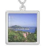 St. Thomas, US Virgin Islands. Charlotte Square Pendant Necklace