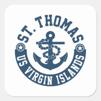 St. Thomas US. Virgin Islands Square Sticker