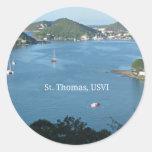 St Thomas, USVI Pegatina Redonda