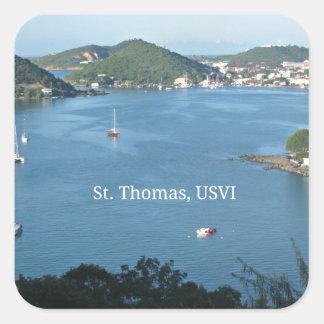 St. Thomas, USVI Square Sticker