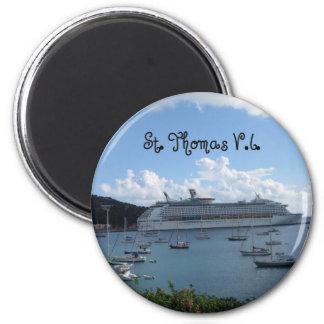 St. Thomas, V.I. 2 Inch Round Magnet
