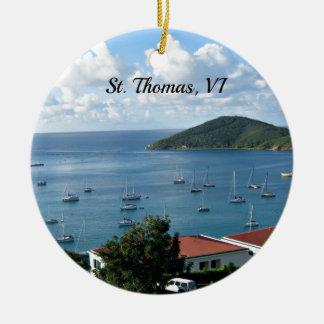 St. Thomas, VI Ceramic Ornament