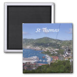 St Thomas View 2 Inch Square Magnet