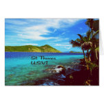 St. Thomas view from Coral World Greeting Cards