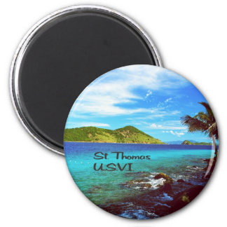 St. Thomas view from Coral World Fridge Magnets