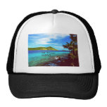 St. Thomas view from Coral World Mesh Hats