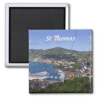 St Thomas View Fridge Magnets