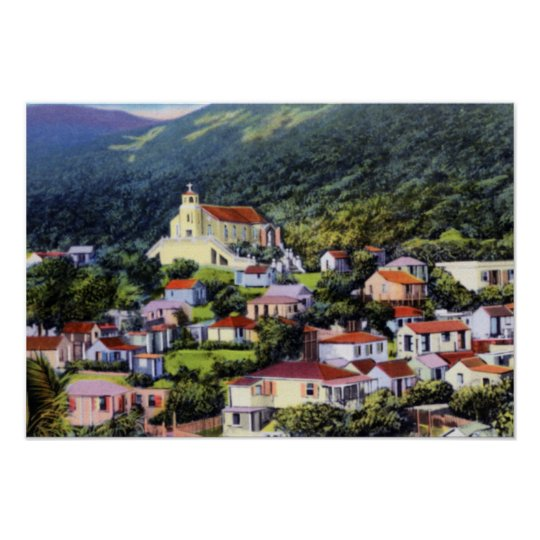 St Thomas Virgin Islands French Village Poster