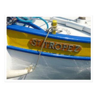 st tropez boat postcards