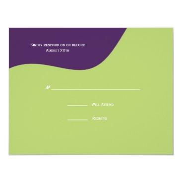 Beach Themed St. Tropez Response Card: Deep Purple Card