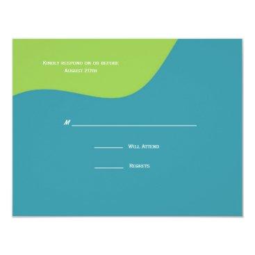 Beach Themed St. Tropez Response Card: Rainbow Card