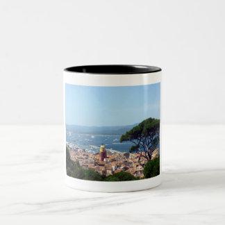 st tropez view Two-Tone coffee mug