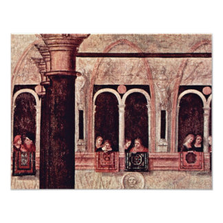 """St. Tryphon Of Phrygia Freed The Daughter Of 4.25"""" X 5.5"""" Invitation Card"""