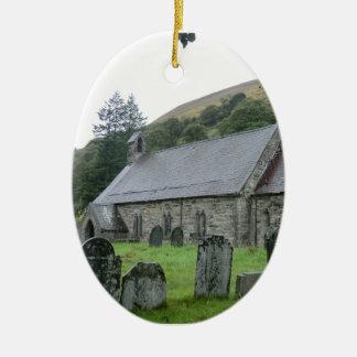 St Tydecho Llanmawddwy Church, Wales Ceramic Ornament