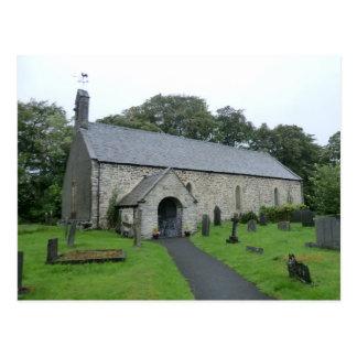 St Tydecho's Church, Cemaes, Powys Postcard