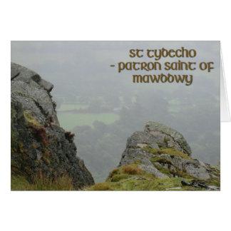 St Tydecho's Head Overlooking the Dyfi Valley Card