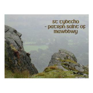 St Tydecho's Head Overlooking the Dyfi Valley Postcard