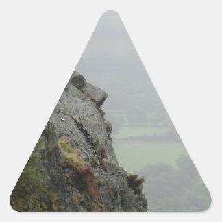 St Tydecho's Head Overlooking the Dyfi Valley Triangle Sticker
