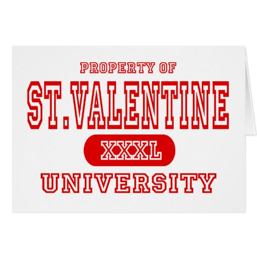 St. Universidad de la tarjeta del día de San Valen