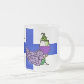 St. Urho Beer Mug Grasshopper in Wine Glass
