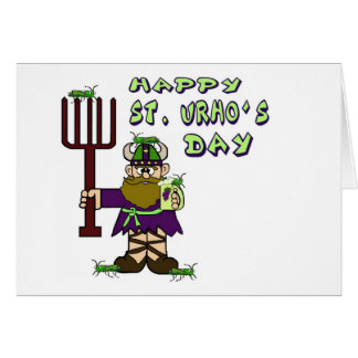 St Urho s Day - Ver 5 Note Card