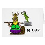 St. Urho T-shirt with Peace Grasshopper Card
