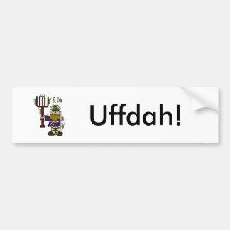 """St. Urho """"Uffdah"""" Bumper Sticker"""