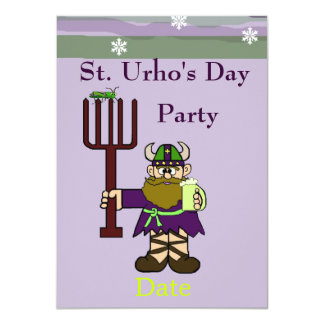 St. Urho's Day Party Invitation  with St. Urho