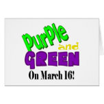 St. Urho's Day Purple and Green Card  Customize It